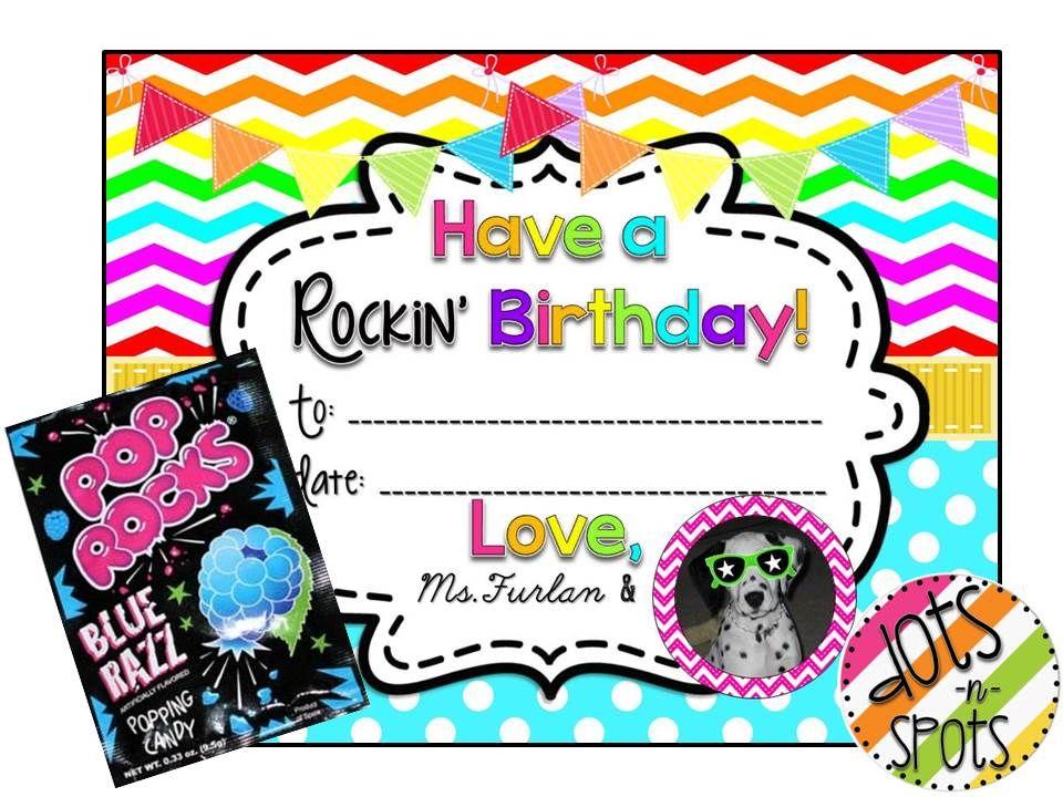 Birthday poprocks educational crafts pinterest educational birthday poprocks bookmarktalkfo Choice Image