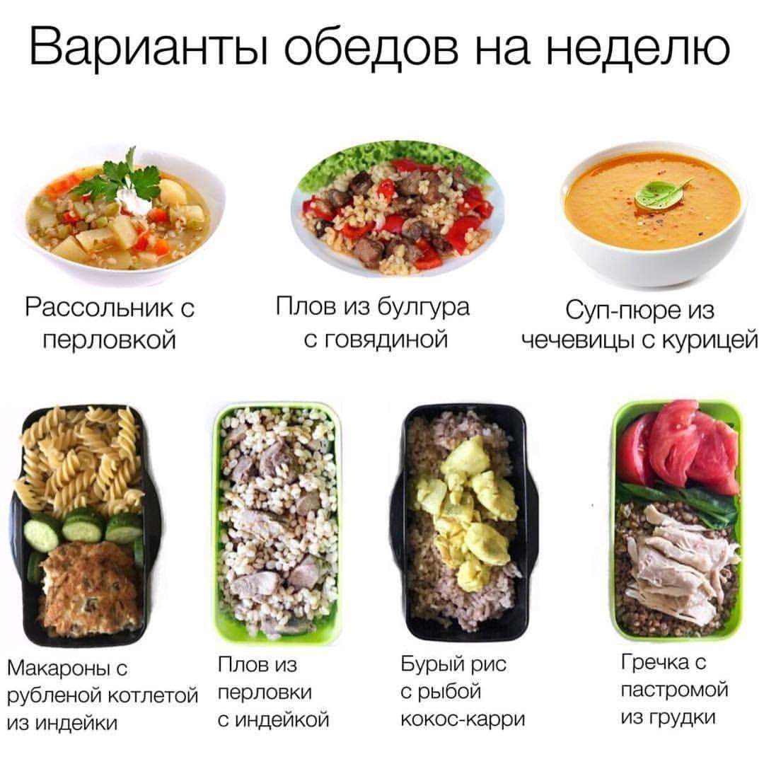 готовая еда на неделю для похудения