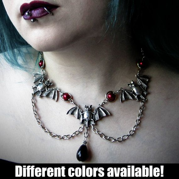 Batty Victorian Necklace, Gothic Bat Necklace or choker