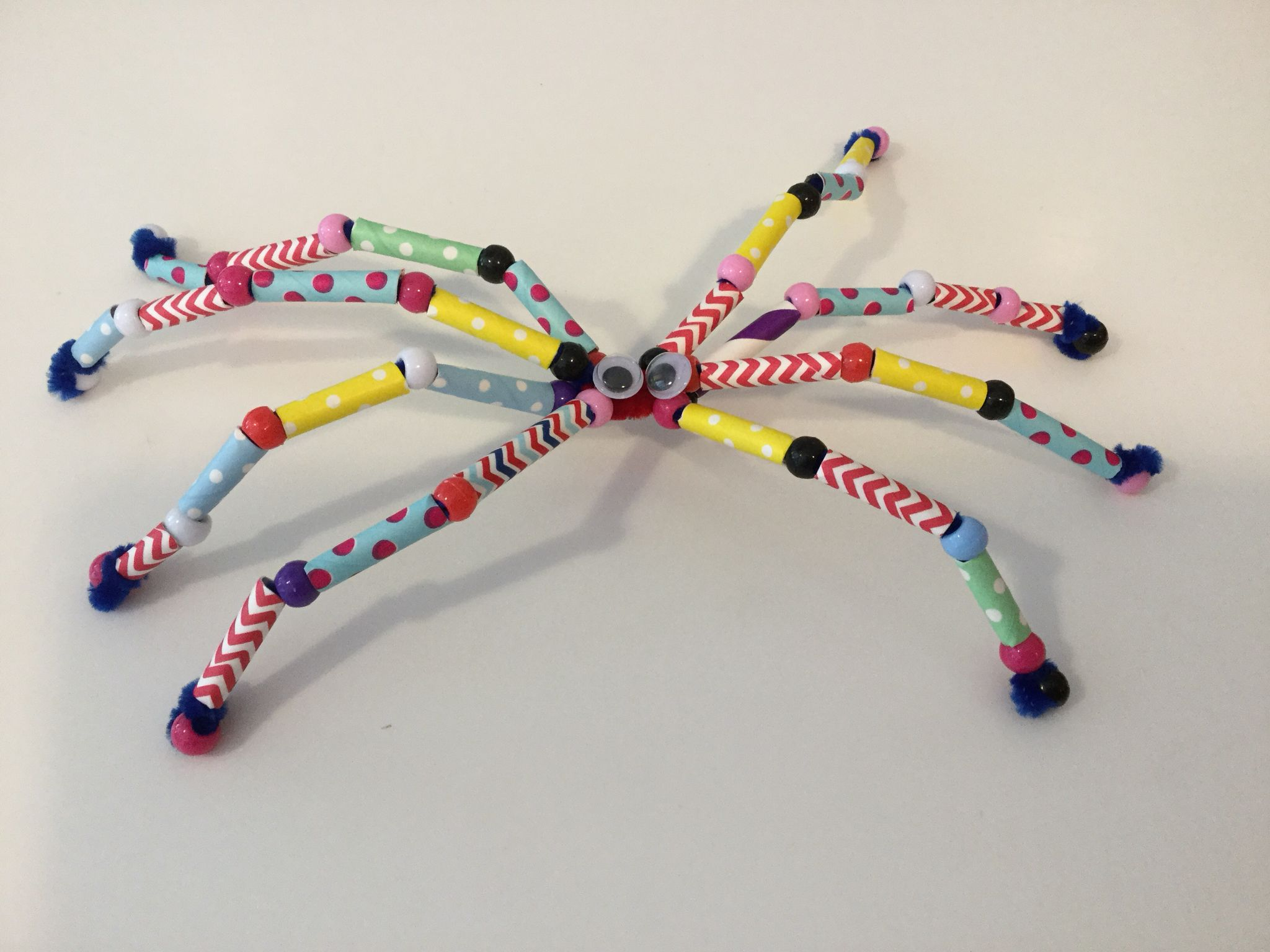 spider crafts made from pipe cleaners paper straws and