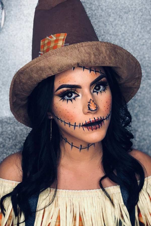 Photo of 25 Scarecrow Makeup Ideas for Halloween | Page 2 of 2 | StayGlam