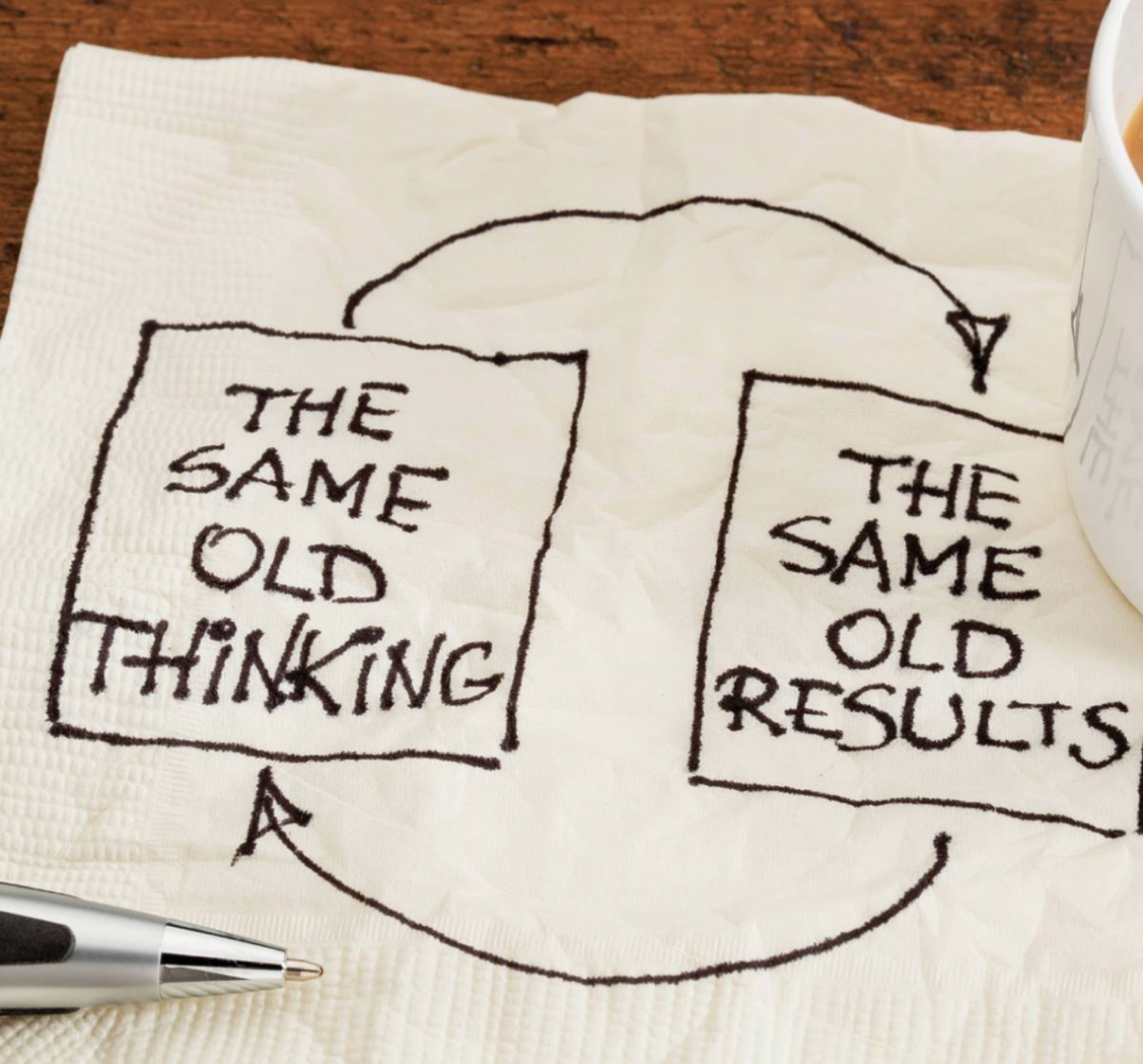 Same old thinking will result in the same old results.