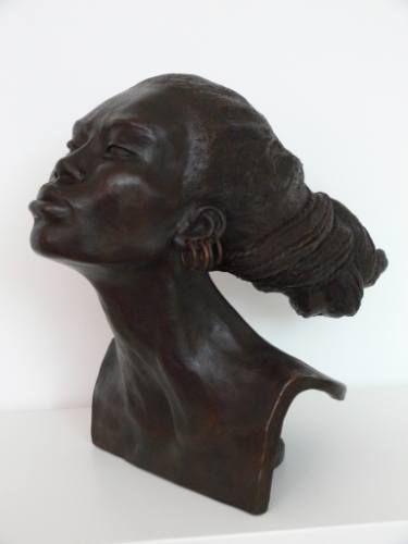 "Saatchi Art Artist Brijite Bey; Sculpture, ""FEMME CHIGNON"" #art"