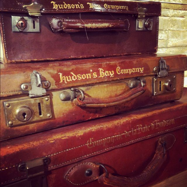 Hudson's Bay Company vintage luggage! (pinned by www.redwoodclassics.net)