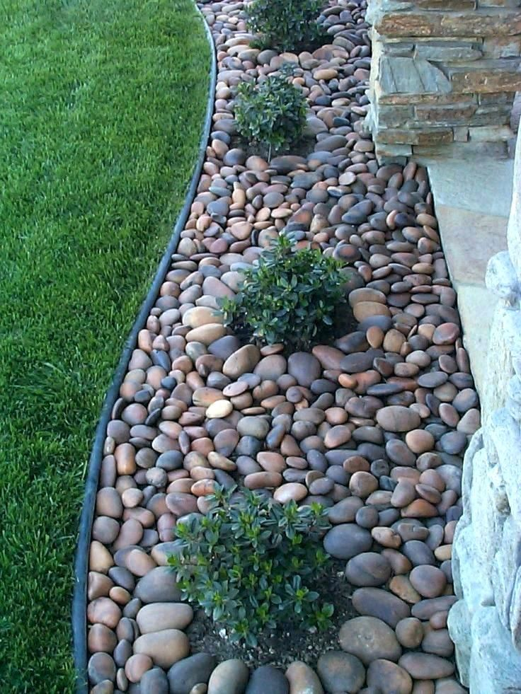 Black Star Gravel Landscape Black Granite Landscape Gravel Star Small Front Yard Landscaping Landscaping With Rocks Small Backyard Landscaping