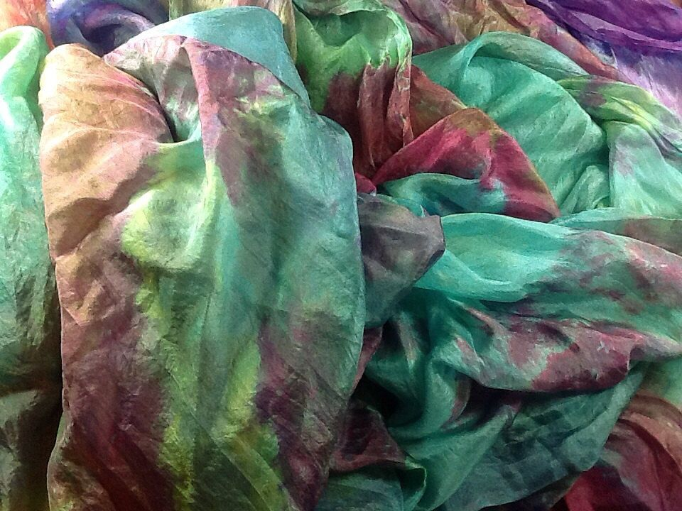 """Hand+dyed+silk+habotai+55""""+wide+tropicans+great+adirondack+by+SweetHorseDesignCo+on+Etsy"""