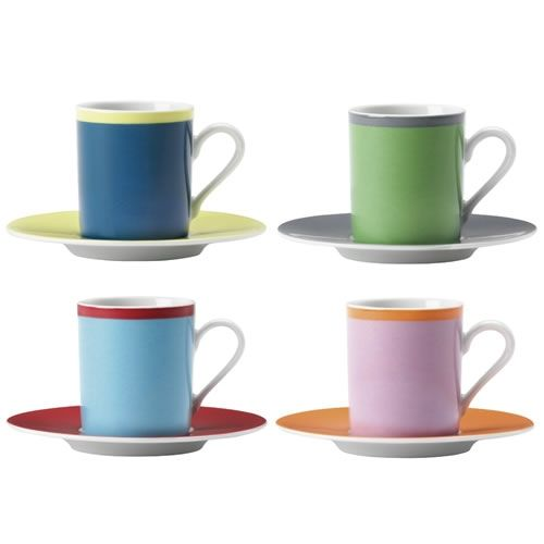 LSA Ania Espresso Coffee Cup and Saucer, Set 4 The LSA International ...