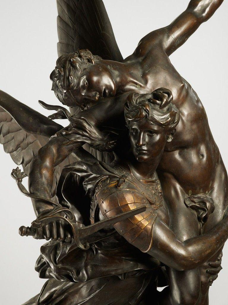 gloria Victis Bronze Antonin Mercié - bronze sculptures