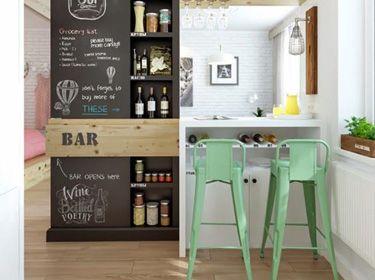 Ardoise peinture cuisine sous l ardoise la tendance id e d co appartement d coration - Peinture ardoise cuisine ...