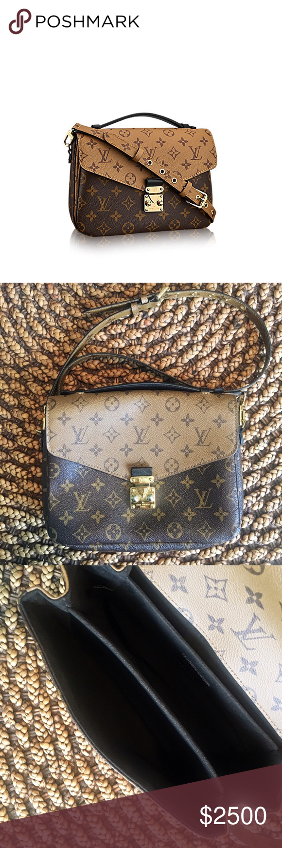 e0f729b4d9dc 100% Auth LV Reverse Monogram Pochette Metis Impossible to find and Limited  Edition