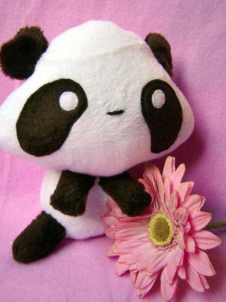 Kleiner Handgemachte Panda Mori aus hochwertigem Kuschel -Plüsch,Fell-Imitat in Braun -Weiss  ! Einzelstück!Unikat! Nach eigener Vorlage hergestellt!