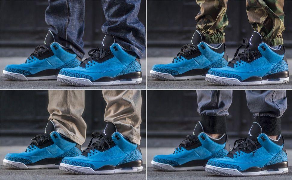 Air Jordan 3 Retro Powder Blue On-Foot Look. The