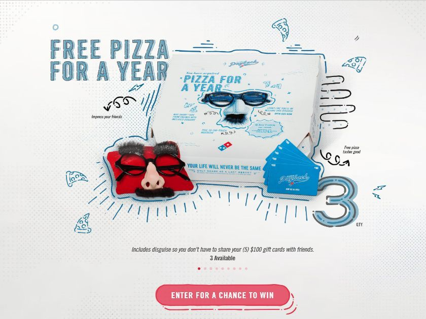 Enter the Domino's Pizza Payback Sweepstakes for a chance to win a 5x8' Domino's Night Light!