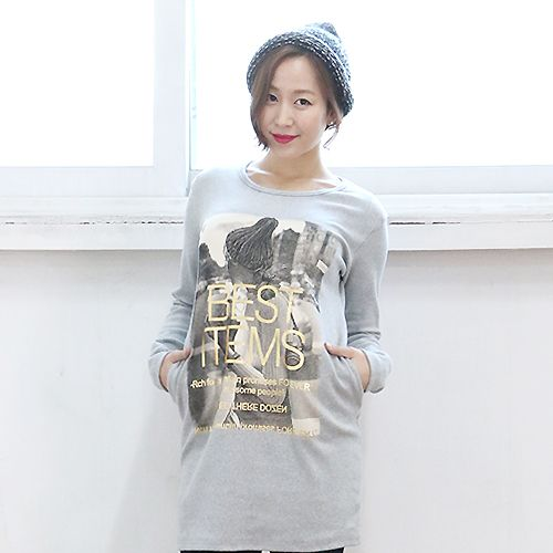 Graphic Printed Long Top