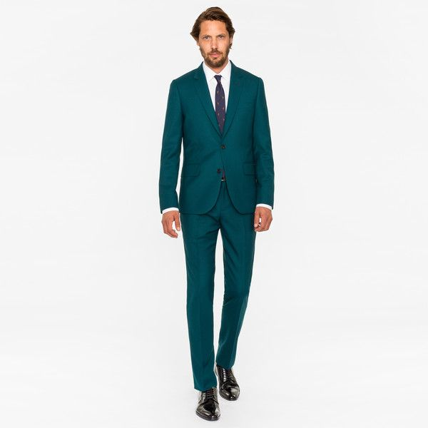 Paul Smith The Soho - Men's Tailored-Fit Dark Green Wool 'Suit To.