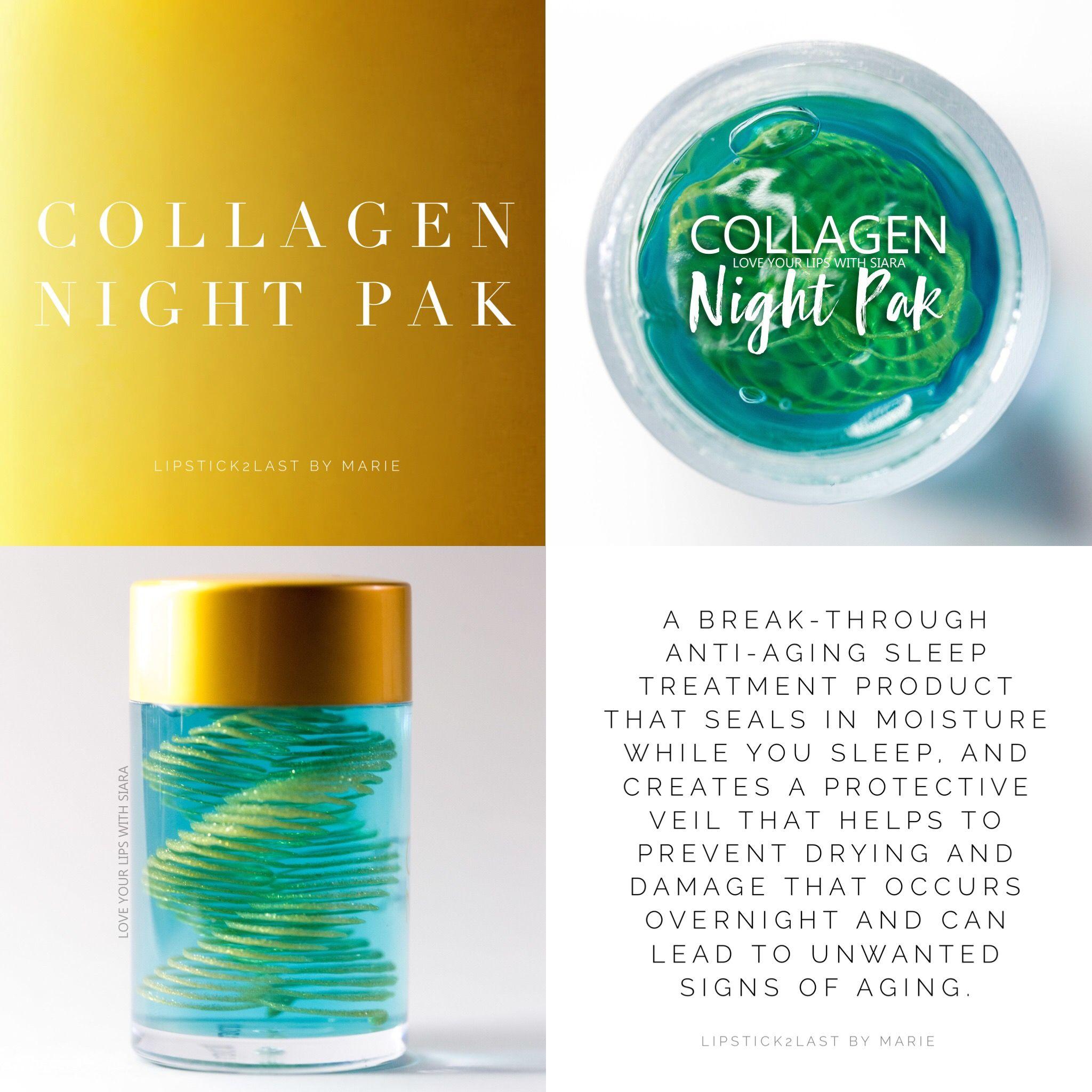 Collagen Night Pak by SeneGence Senegence,