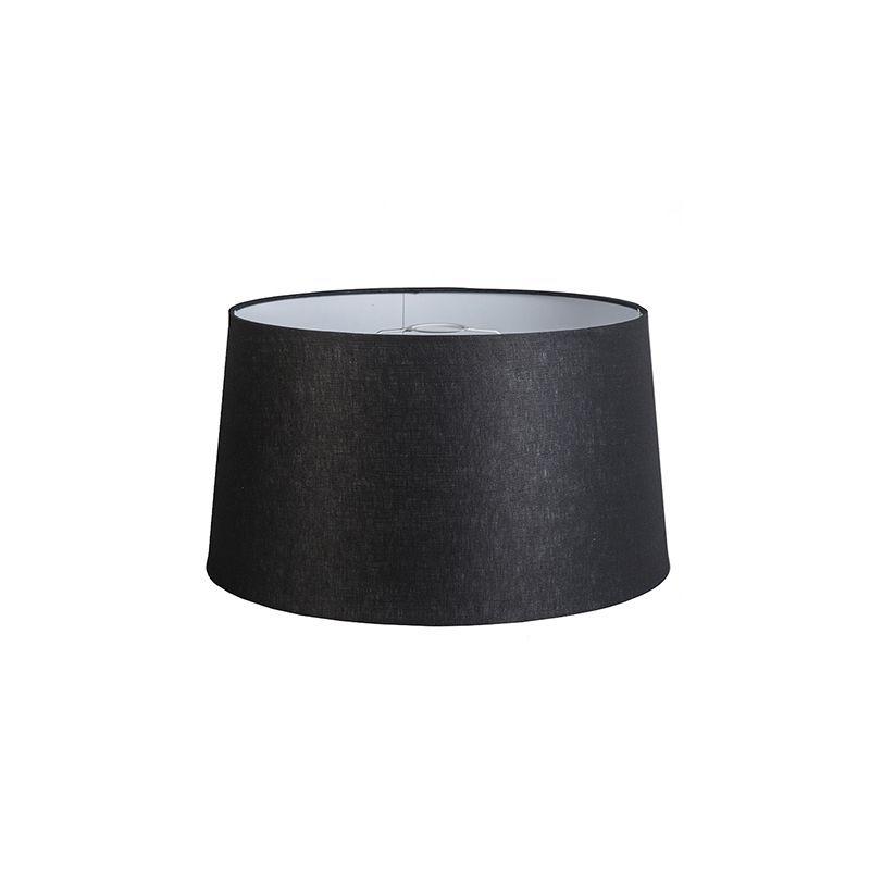 Abat-jour//noir//Tissu//e27