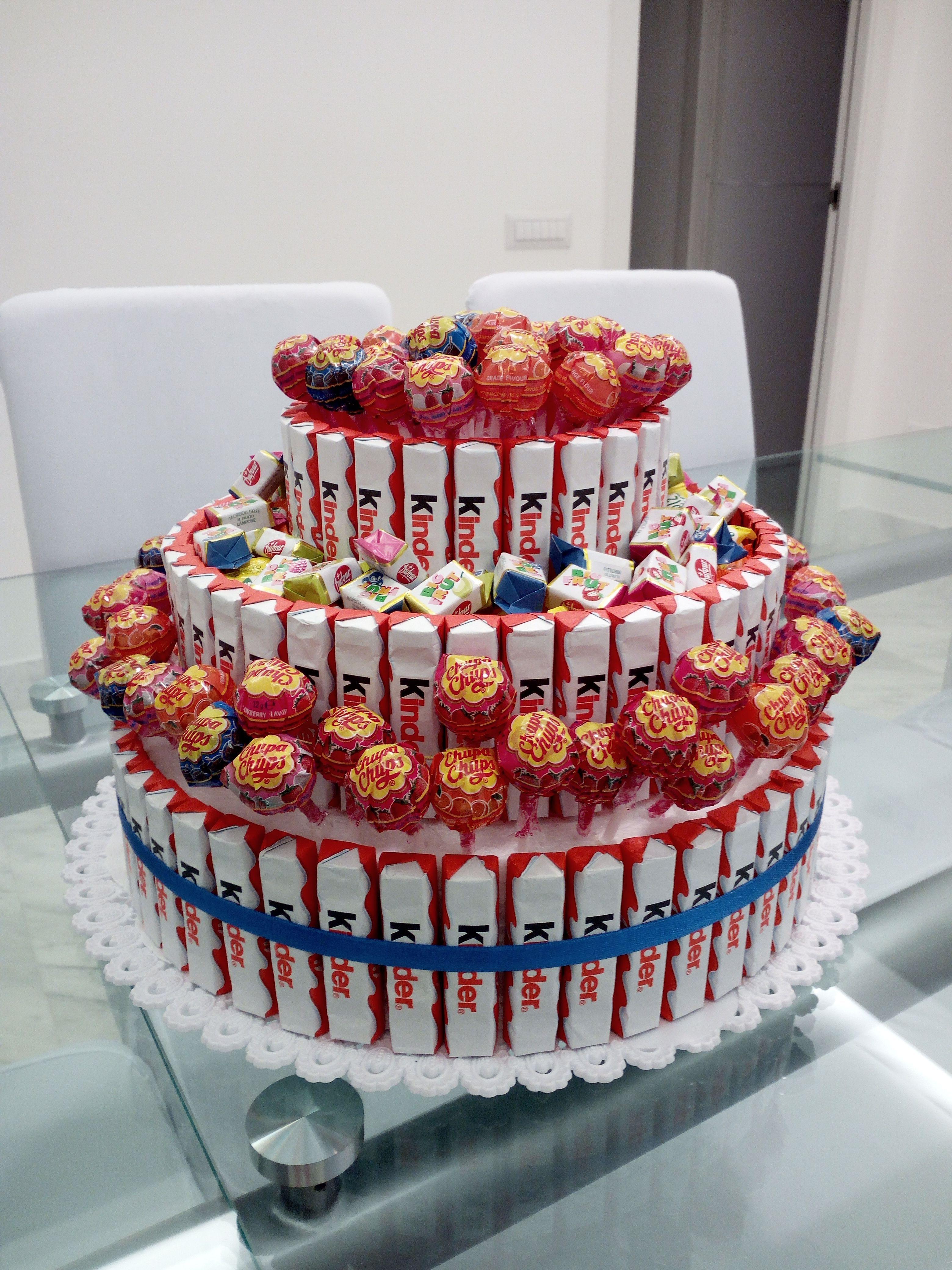 Torta barrette kinder per festa bambini base di - Decorazioni tumblr ...