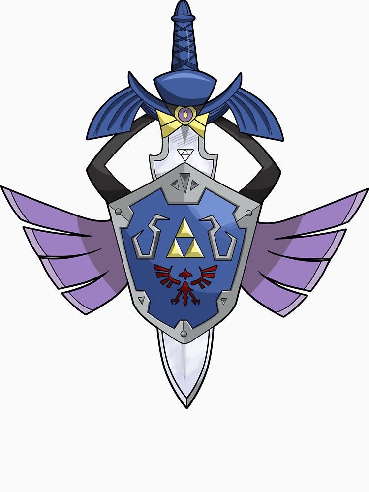 Master Sword Hylian Shield Aegislash Slim Fit T Shirt Pokemon