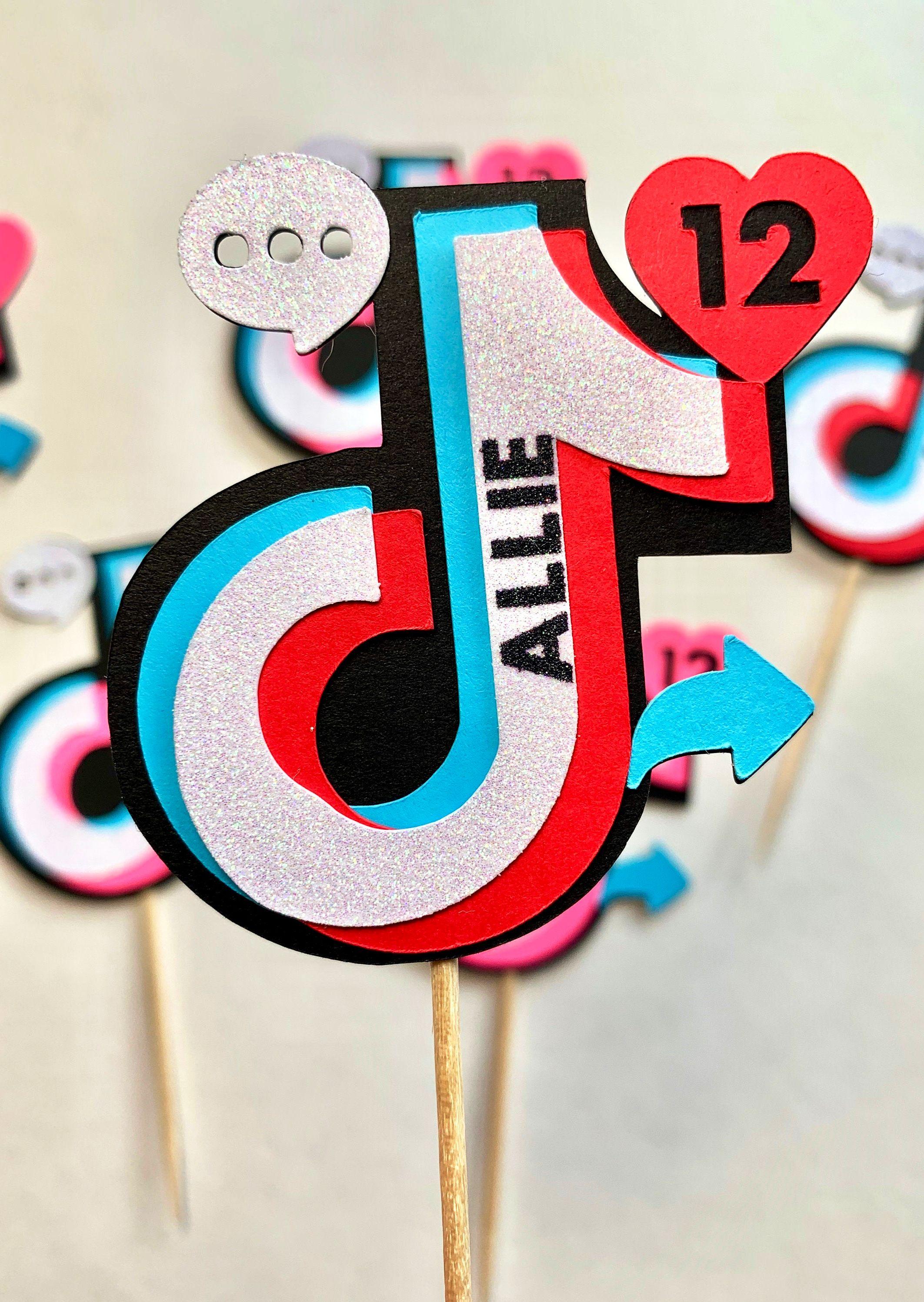 Tik Tok Tiktok Personalized Icons Cupcake Toppers Tik Tok Etsy Party Topper Halloween Themed Birthday Party Cupcake Toppers