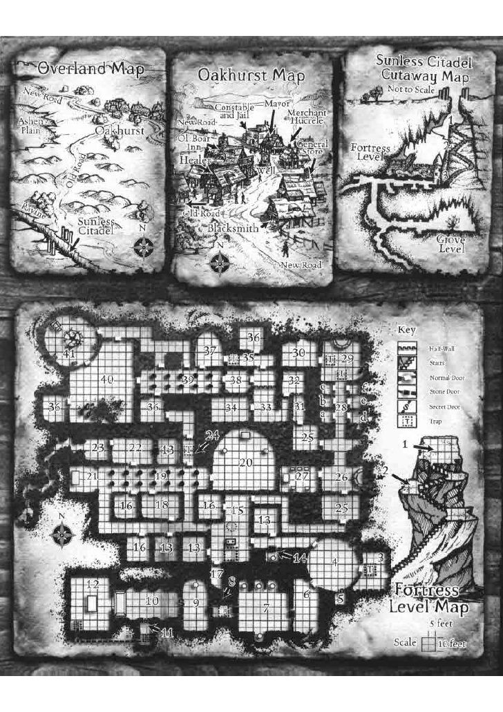 Sunless Citadel Map : sunless, citadel, Sunless, Citadel, Fortress, Level, Maping, Resources