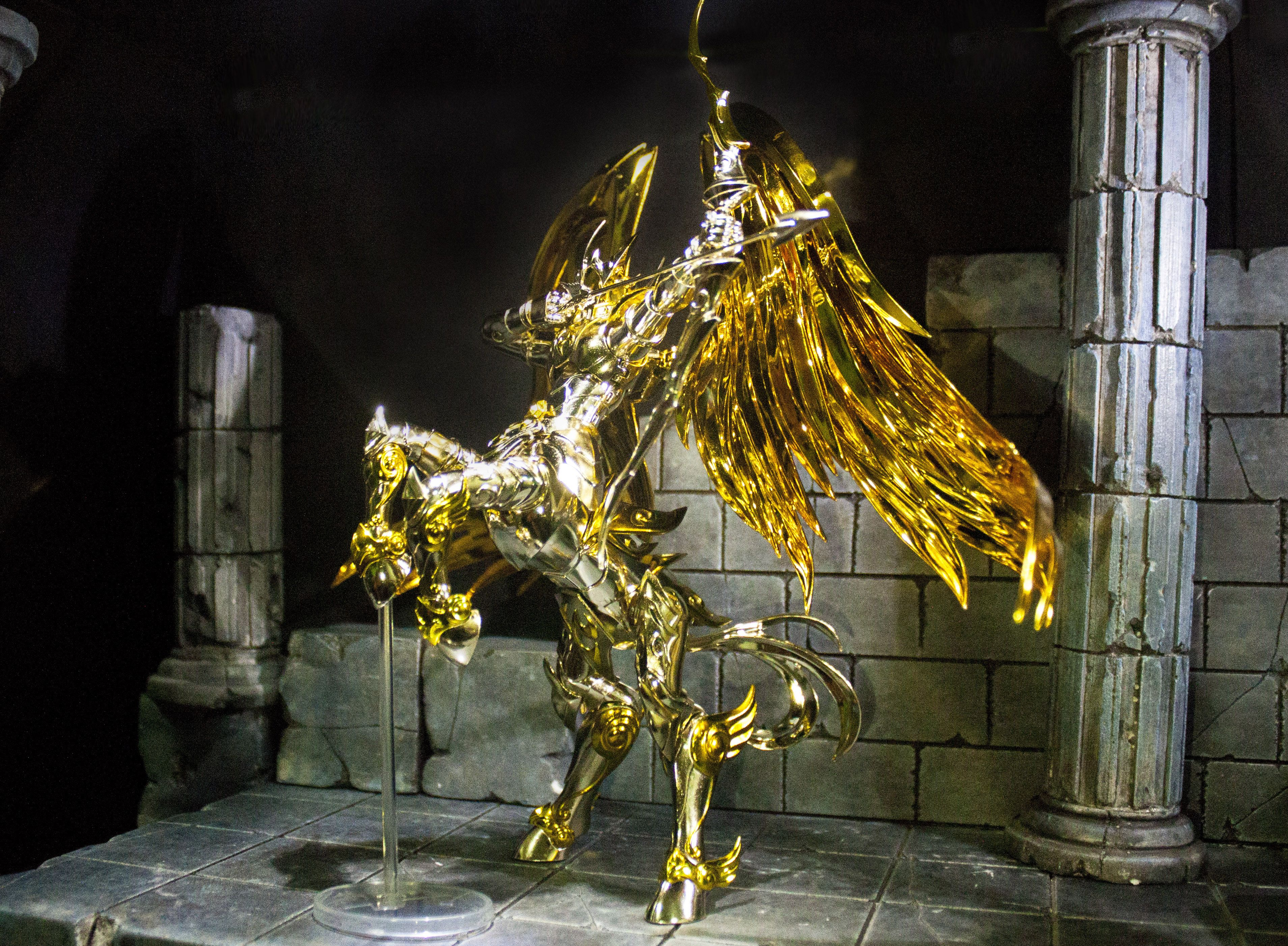 Armadura divina de sagitario Cavaleiros do zodiaco