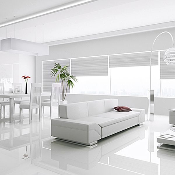Kronotex Gloss White Laminate Tiles | White laminate ...