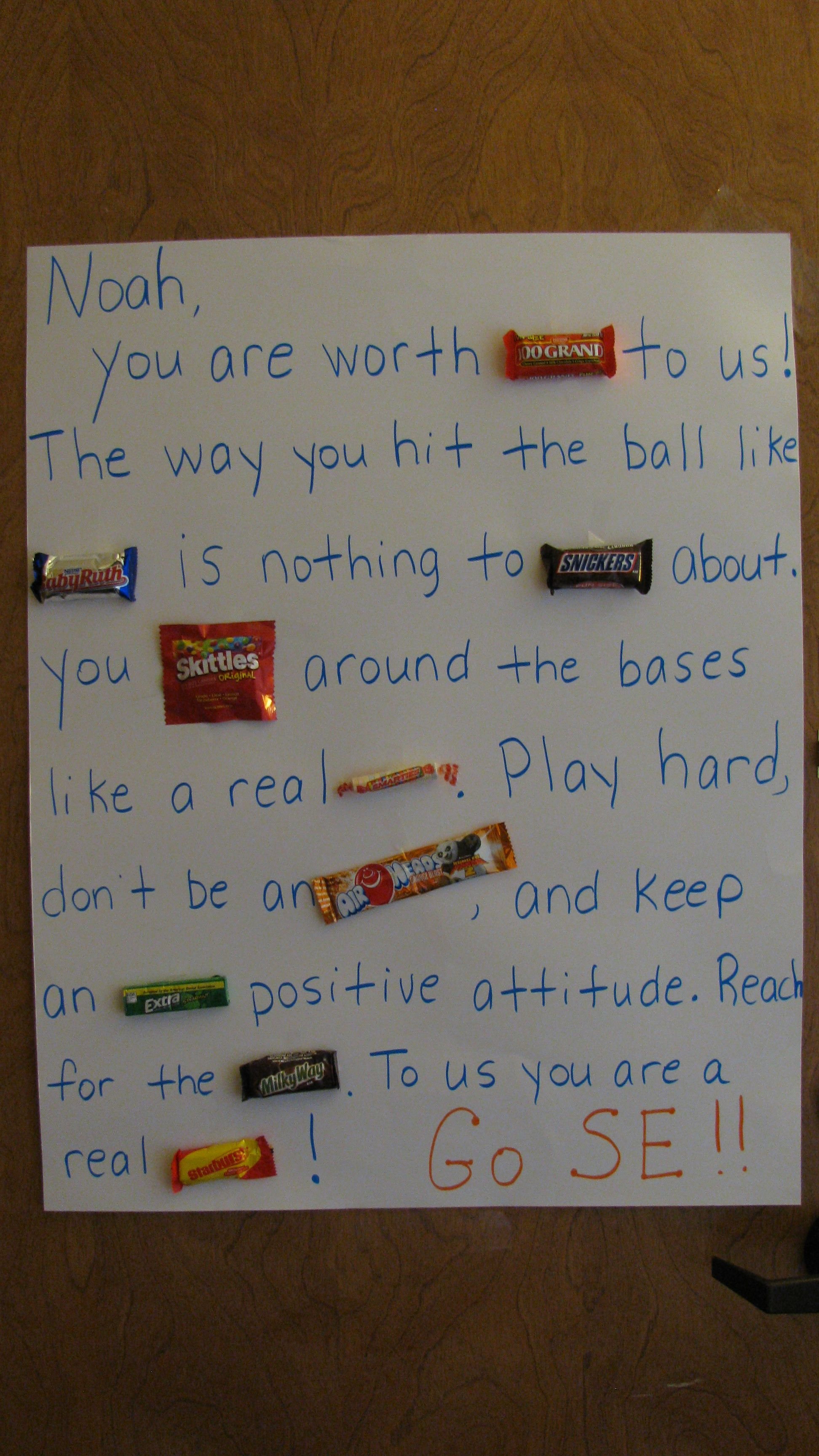 Candy Poster For Baseball Player Lee Blythe Gifts For