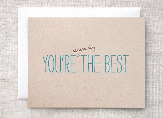 Birthday Card - You're Seriously the Best - Blue, Brown, Post ...