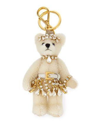 Prada Teddy Bear keychain - White XiMAVpvwxl
