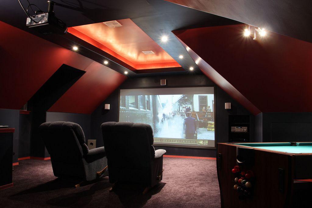 Mattflix Media Room Attic Theater Begins Construction Home Theater Design Home Theater Home Cinemas