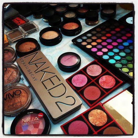 My Make Up Kit On Set At My Recent Lip Photoshoot Colour Run I