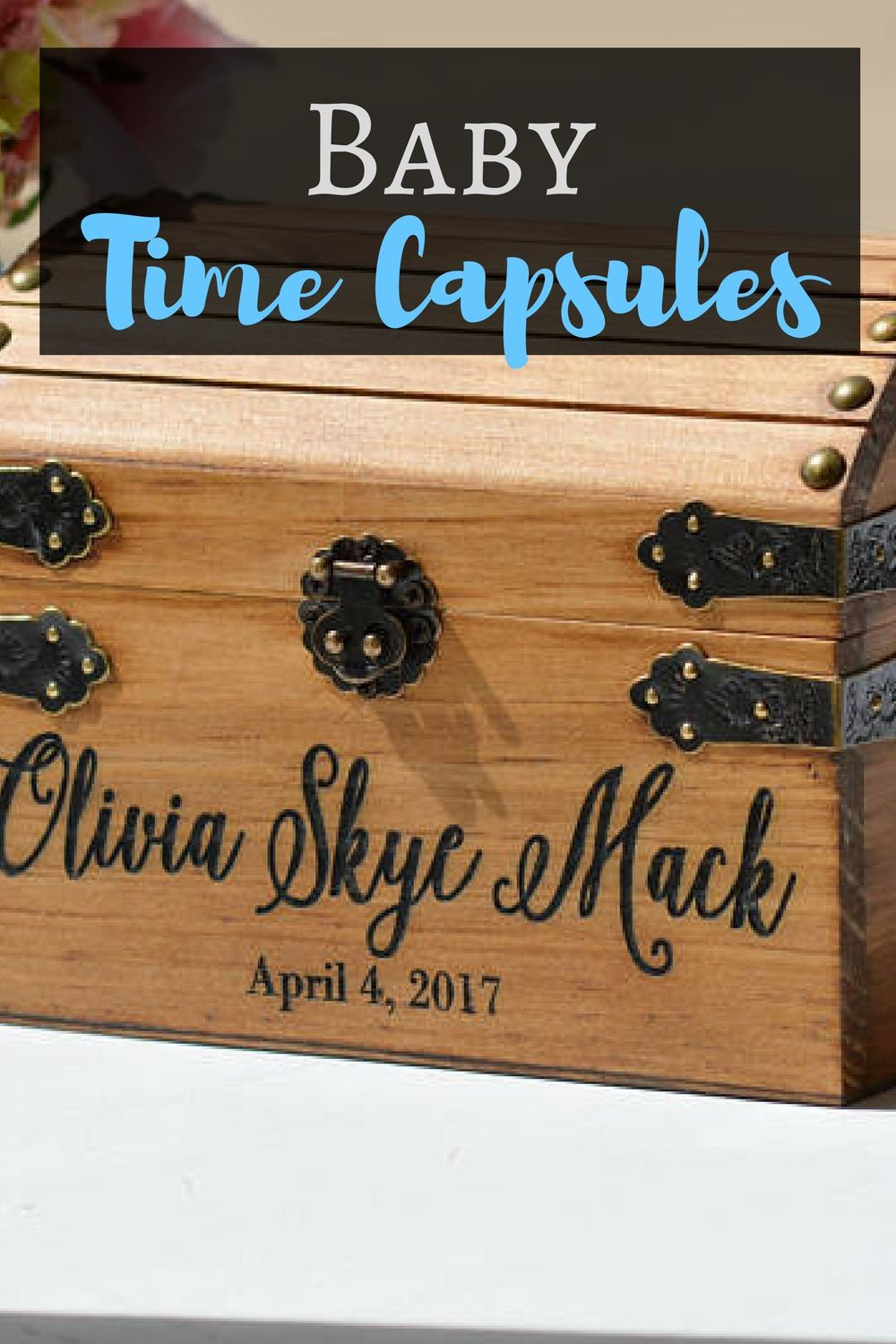 Baby Time Capsule Box First Birthday Ideas Sentimental Gift Small Memory Rustic Keepsake In Loving Affiliate Gifts