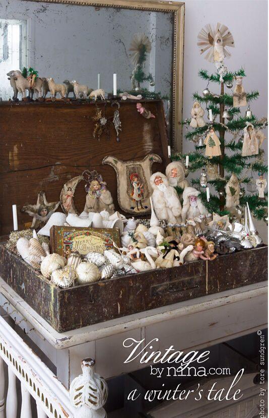 Vintagebynina christmas handmade pinterest for Nostalgische weihnachtsdeko