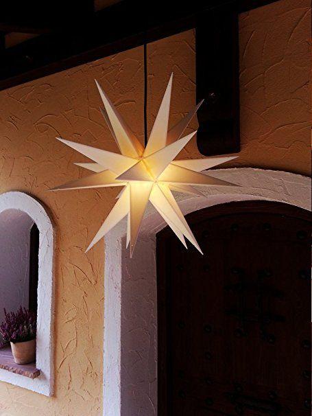 Außenstern ca 60 cm Adventsstern weiß außen outdoor Kunststoff - lampe für küche