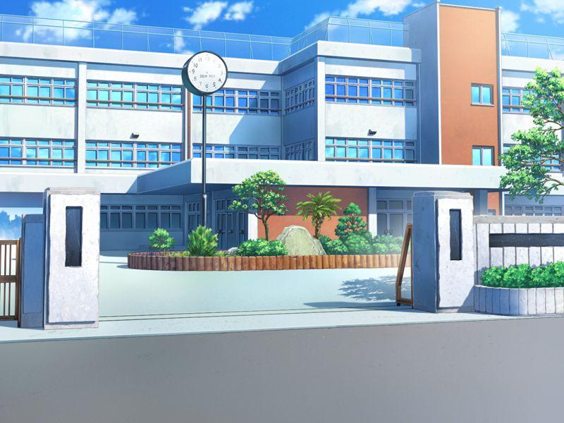 #フリー素材 フリー素材 背景 学校校門 - 彩 雅介@きまぐれアフターのマンガ - pixiv