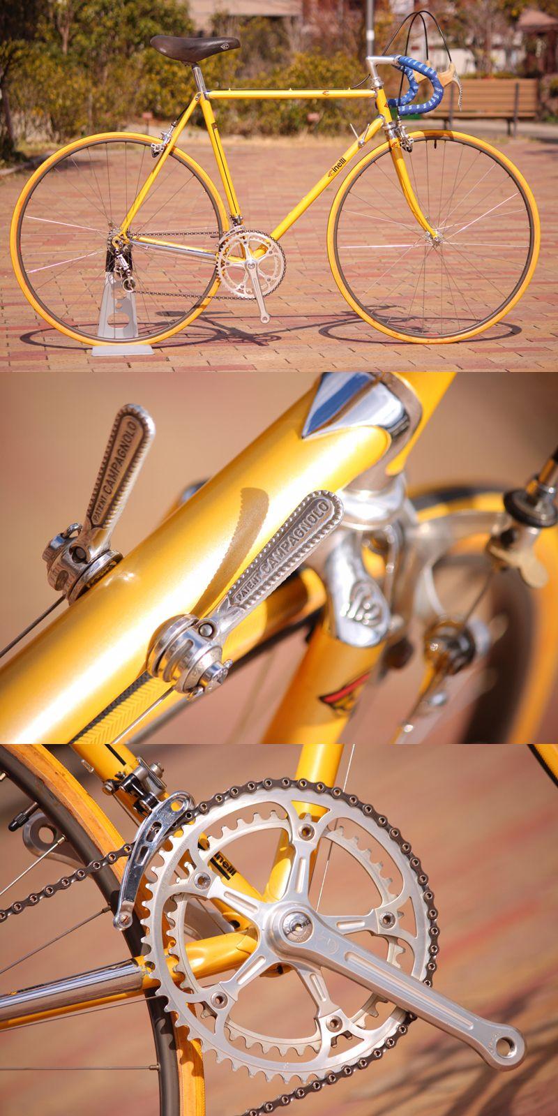 Super Corsa Vintage Yellow Bicycle Vintage Bicycles Road Bike Vintage