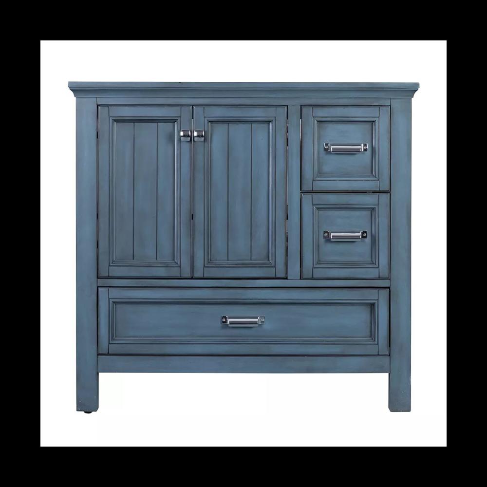 Foremost BAV3622D Wood vanity, Tall storage