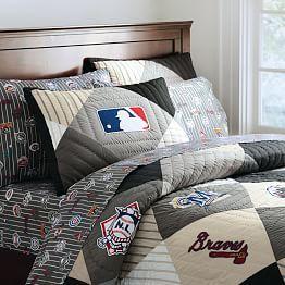 Baseball Bedding For Boys Mlb Boys Baseball Bedding Pbteen Baseball Bedroom Decor Baseball Bedroom Baseball Bed