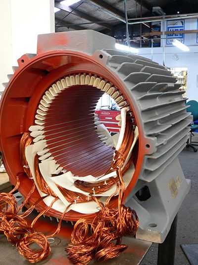 Electric motor being rewound Motor in 2019 Electric