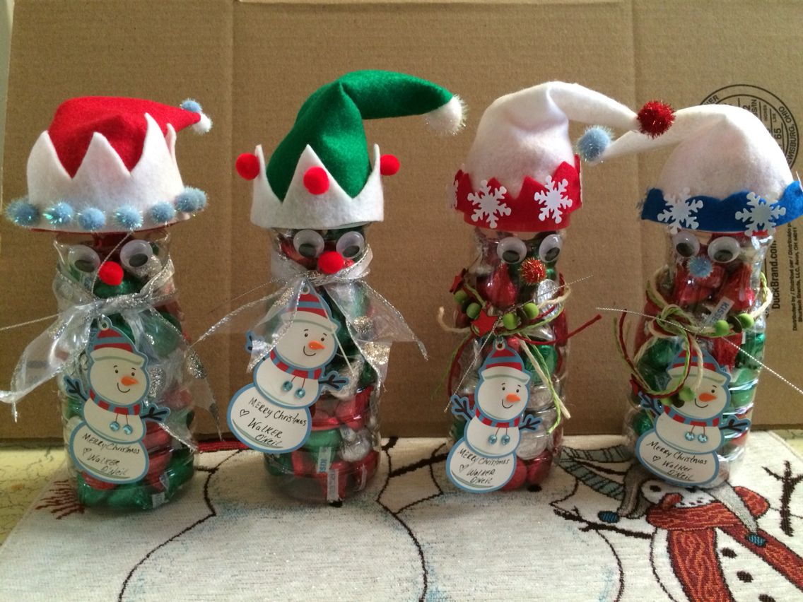 Christmas Elf candy jar made from Coffee Creamer ...