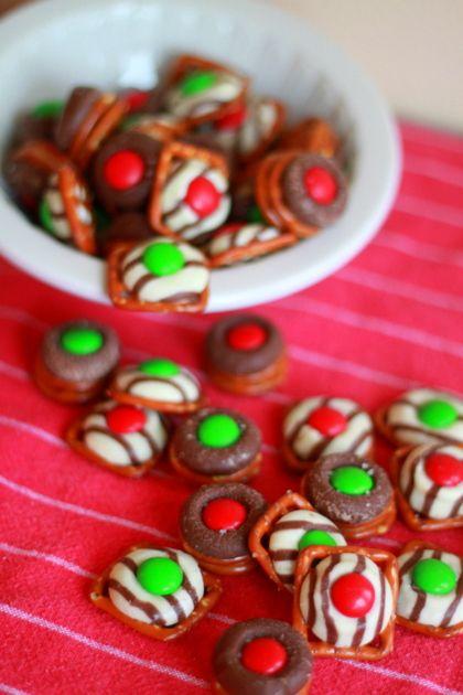 Holiday Chocolate Pretzel Candies