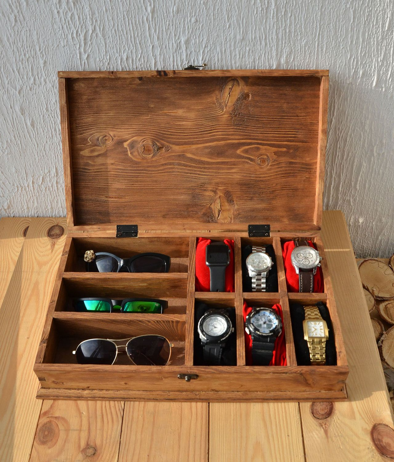 Diy Watch And Sunglasses Holder Hout Bril Meubels