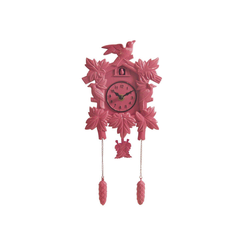 Pink Cuckoo Clock Pink Wall Clocks Wall Clock Cuckoo Clock