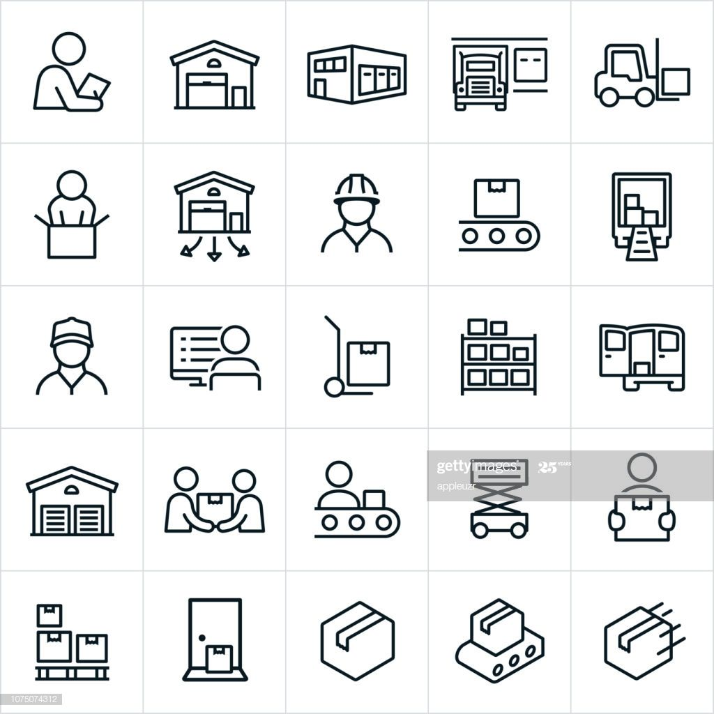Icons Related To And Representing Warehouses And The Distribution Icon Website Icons Distribution Warehouse