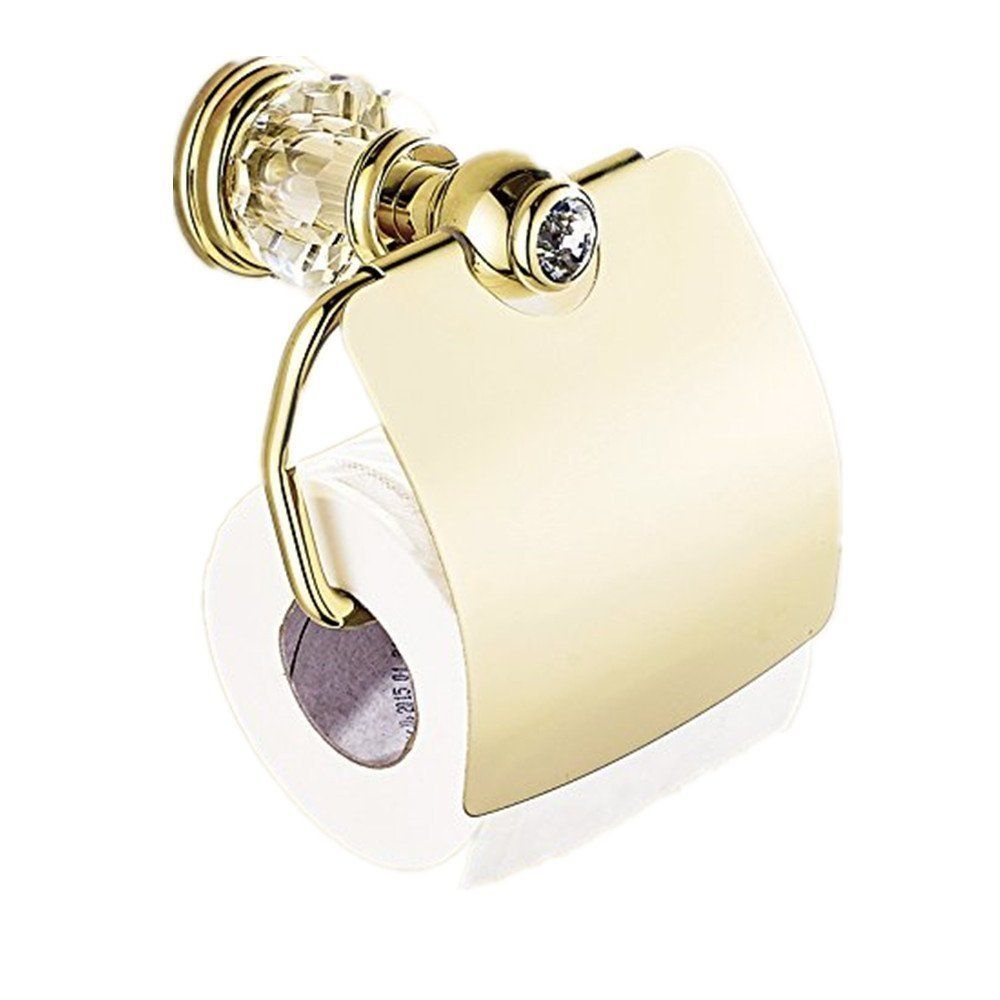 Amazon Com Auswind Antique Gold Toilet Paper Holder Brass Polish Finished Crystal Toilet Paper Holder Toilet Paper Holder Wall Mount Toilet Paper Holder Wall