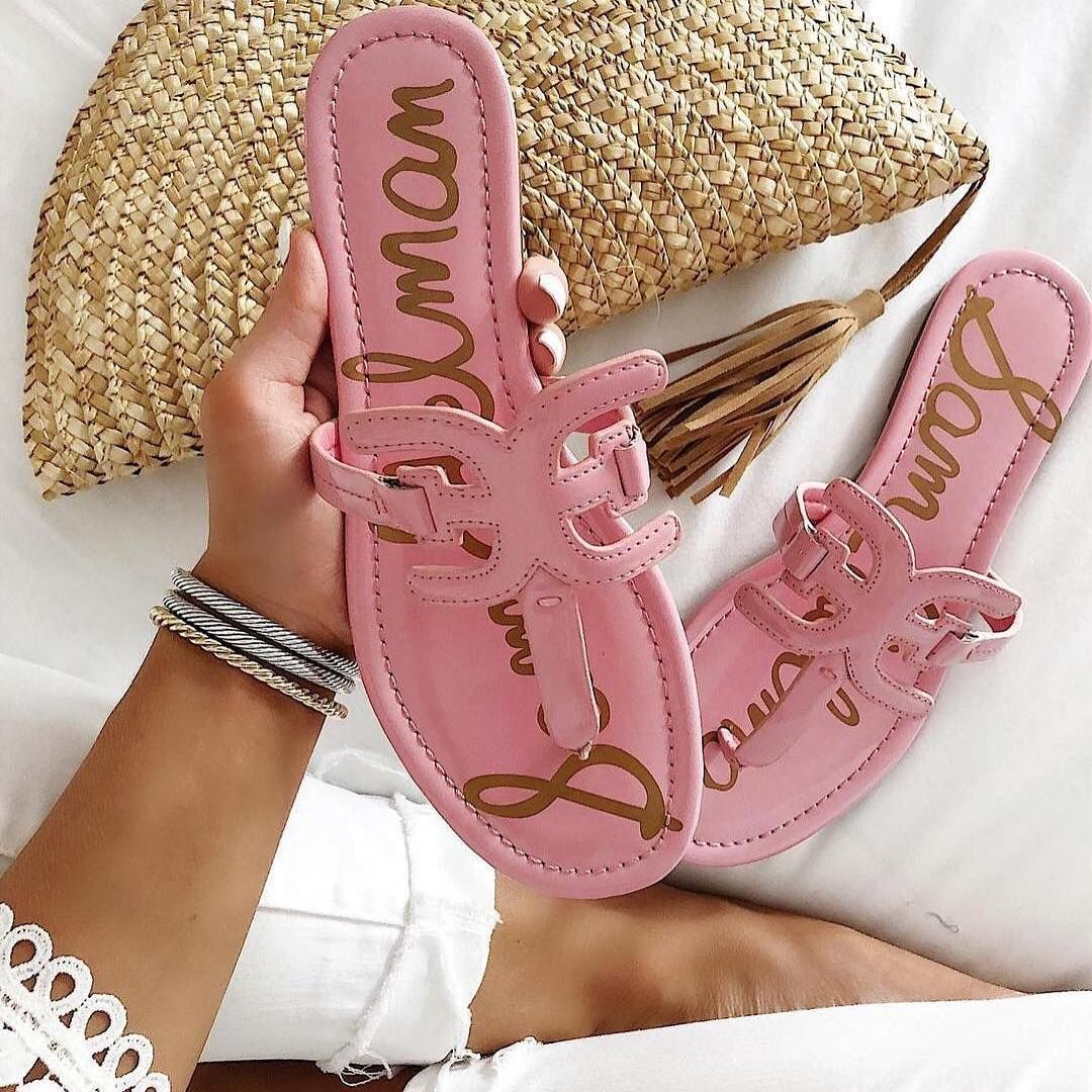 Think Pink Racheltimmerman With Our Carter Sandal With Images Sam Edelman Pink Shoes Sam Edelman Shoes