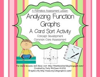 Analyzing Function Graphs Card Sort Sorting Cards Graphing