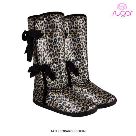 Sugar Moragami Women's Glitter Boots with Side Ties - Assorted Colors