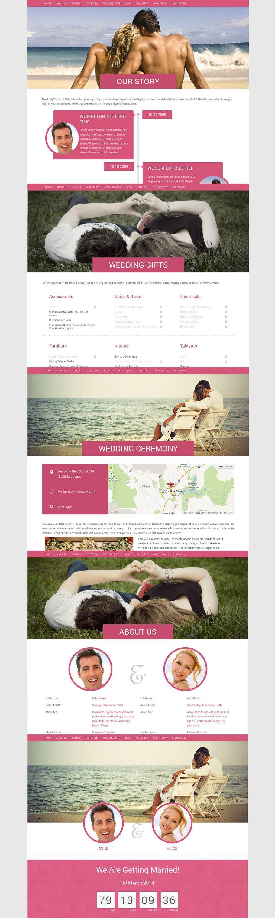 Wordpress Wedding Theme'Wedding' in 2020 Wedding
